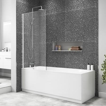 Square Bath Shower Screen 1400 x 800mm