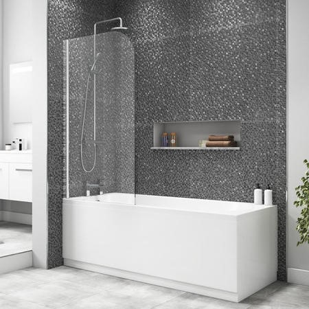 Taylor & Moore Curved Corner Bath Shower Screen 750 x 1400mm