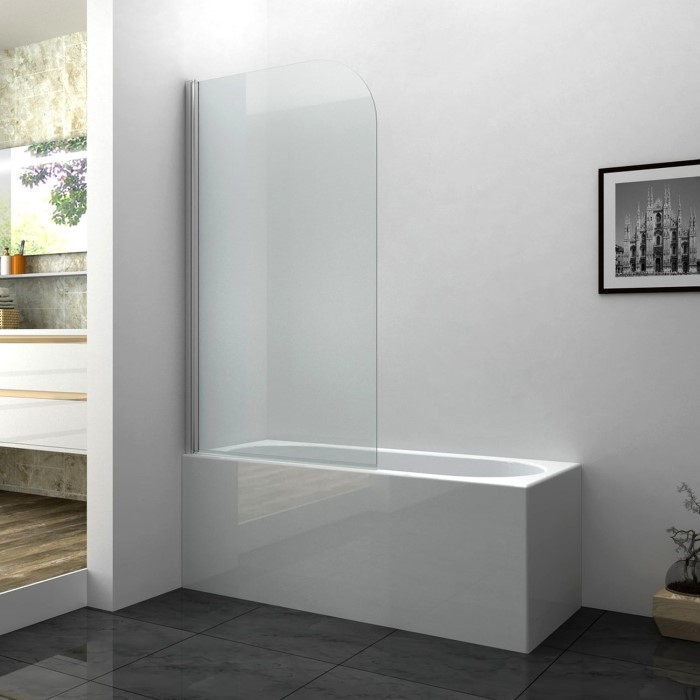 Taylor & Moore Curved Corner Bath Shower Screen 800 x 1400mm ...