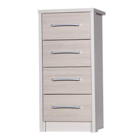 One Call Furniture Avola Premium 4 Drawer Tall Boy In