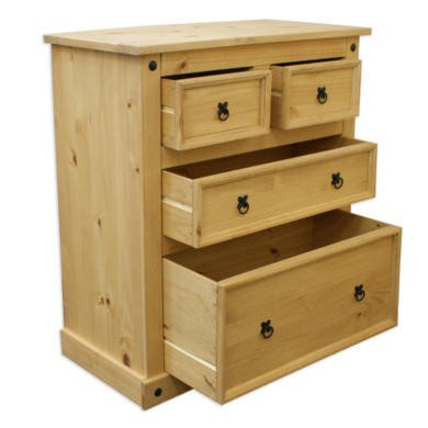 Corona Mexican 2+2 Chest of Drawers In Solid Pine