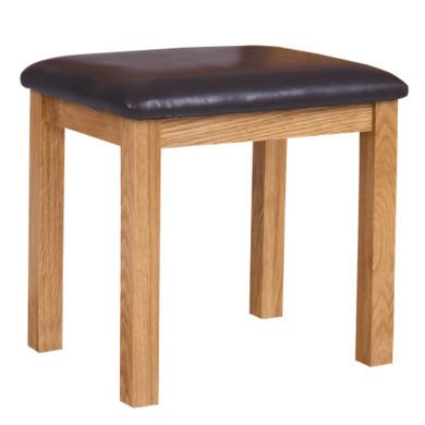 Loire Oak Farmhouse Dressing Table Stool