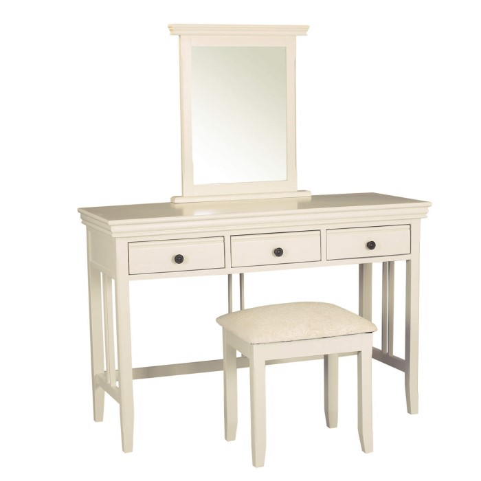 Savannah Dressing Table Set in Ivory/Cream - Includes Mirror and ...