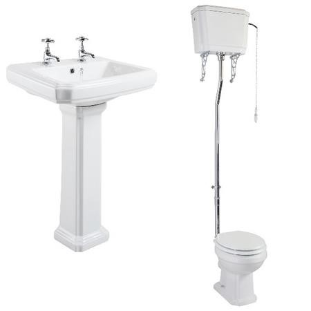 Taylor & Moore Traditional High Level Toilet & Basin Bathroom Suite