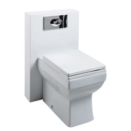 Poly Marble Square Toilet unit with Wall Hung Basin