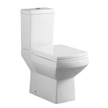 Comfort Height Square Close Coupled Toilet with Soft Close Seat