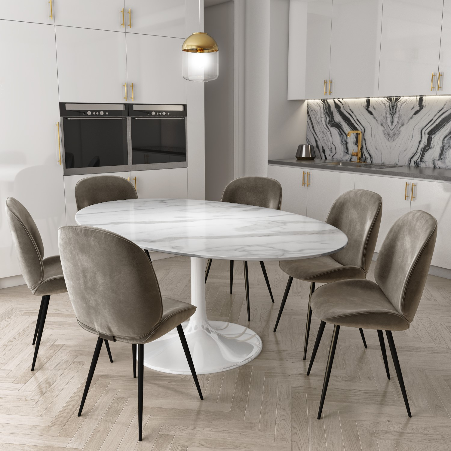 White Oval Dining Table For 6 Off 61, White Oval Dining Room Table