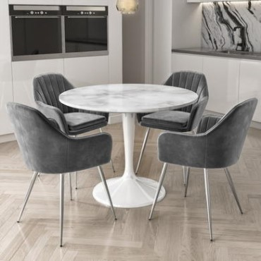 White Round Dining Table And Chairs, Small White Round Dining Table And Chairs
