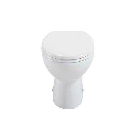 Round Back to Wall Toilet with Soft Close Seat