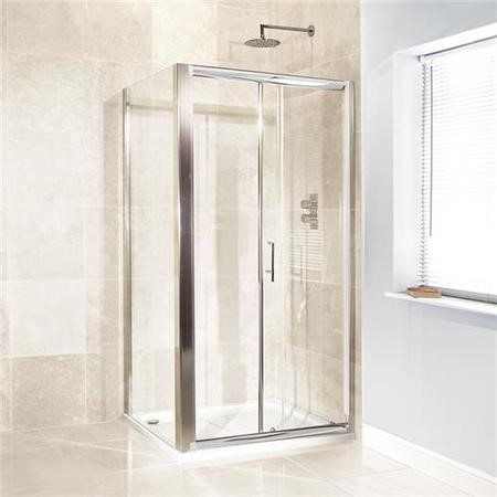 Sliding Door Shower Enclosure 1100 x 900mm - 6mm Glass - Aquafloe Range