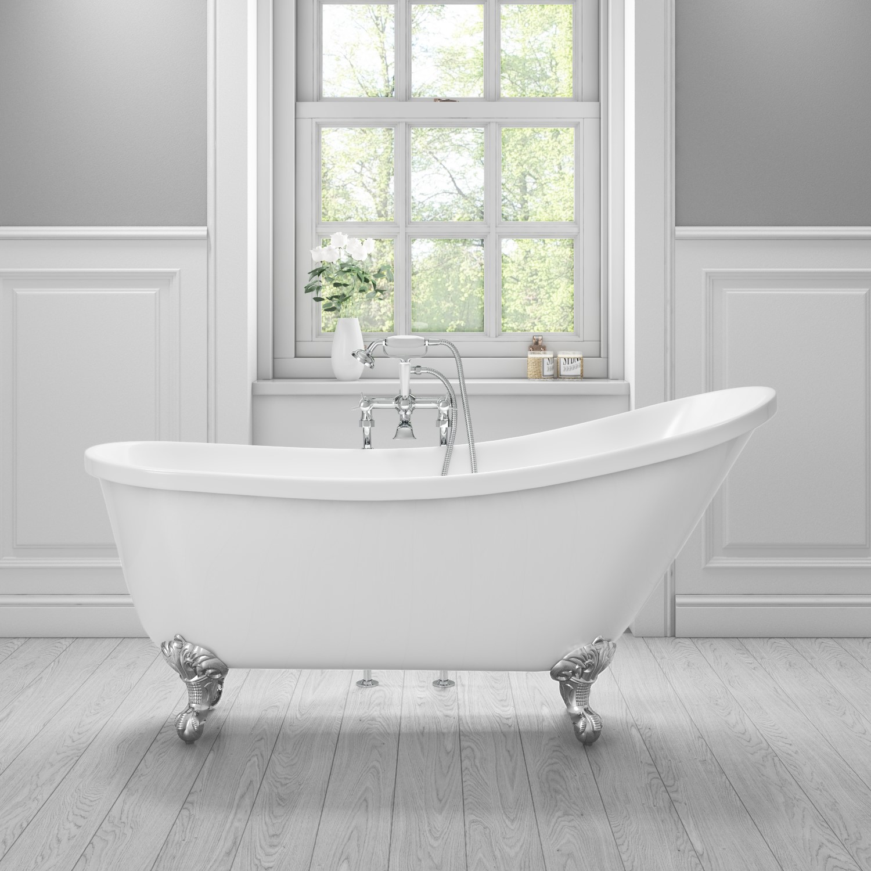 Lunar Luxury Slipper Freestanding Bath  1620 x 730mm