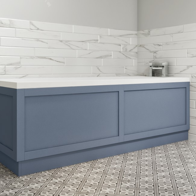 1700mm Matt Blue Bath Front Panel - Baxenden