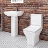 Burford Straight Shower Bath and Austin Toilet and Basin Suite