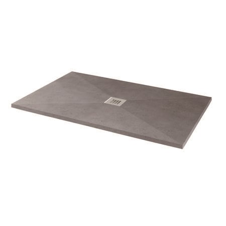 Silhouette Grey Sparkle 1400 x 900 Rectangular Ultra Low Profile Tray with waste