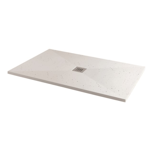 Silhouette White Sparkle 1700 x 800 Rectangular Ultra Low Profile Tray with waste