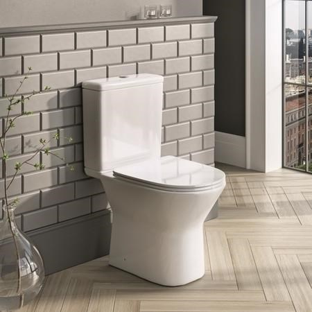 Stowe Rimless Close Coupled Toilet & Seat