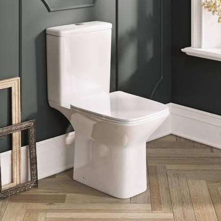 Hartly Rimless Close Coupled Toilet and Seat