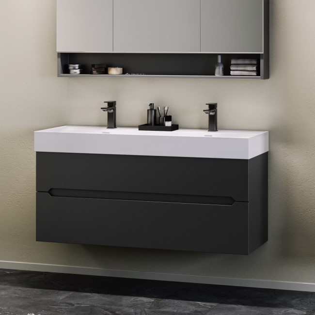 Morella 1200mm Wall Hung Basin Vanity Unit - Anthracite