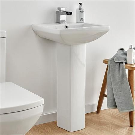 Tabor 460mm Basin and Pedestal -  Waste