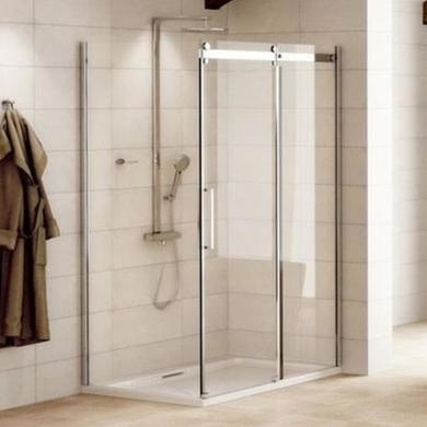 Sliding Shower Enclosure 1400 x 800mm - 8mm Easy Clean Glass - Aquafloe Elite Range