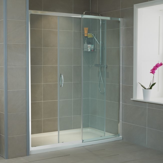 Aquafloe Iris 8mm 1500 x 900 Sliding Door Shower Enclosure