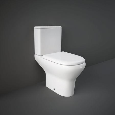 Compact Deluxe 45cm High Rimless Close Coupled Full Access WC Pack with Seat