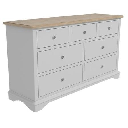 Darley Two Tone Wide Sideboard in Solid Oak and Light Grey