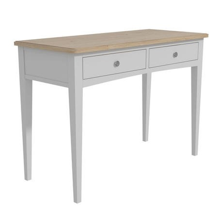 Darley Two Tone Console Table in Solid Oak and Light Grey
