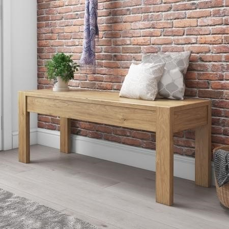 Emerson Solid Pine Rustic Wooden Hallway Bench