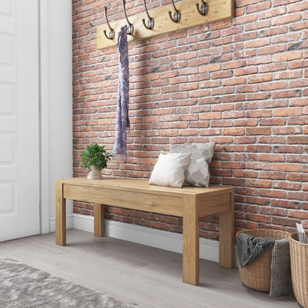 Emerson Solid Pine Rustic Wooden Bench