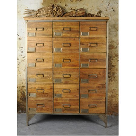 Signature North Aiden Loft Large Industrial Apothecary Chest