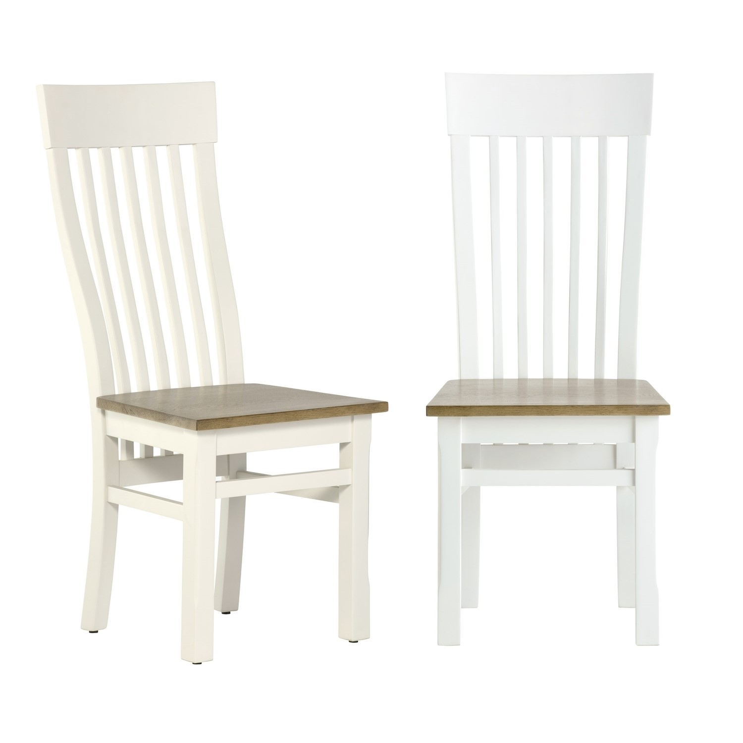 Incredible Bordeaux Solid Oak Two Tone Dining Set With 6 Cream Dining Chairs Squirreltailoven Fun Painted Chair Ideas Images Squirreltailovenorg