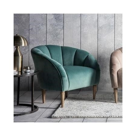 Gallery Tulip Chair in Mint Velvet