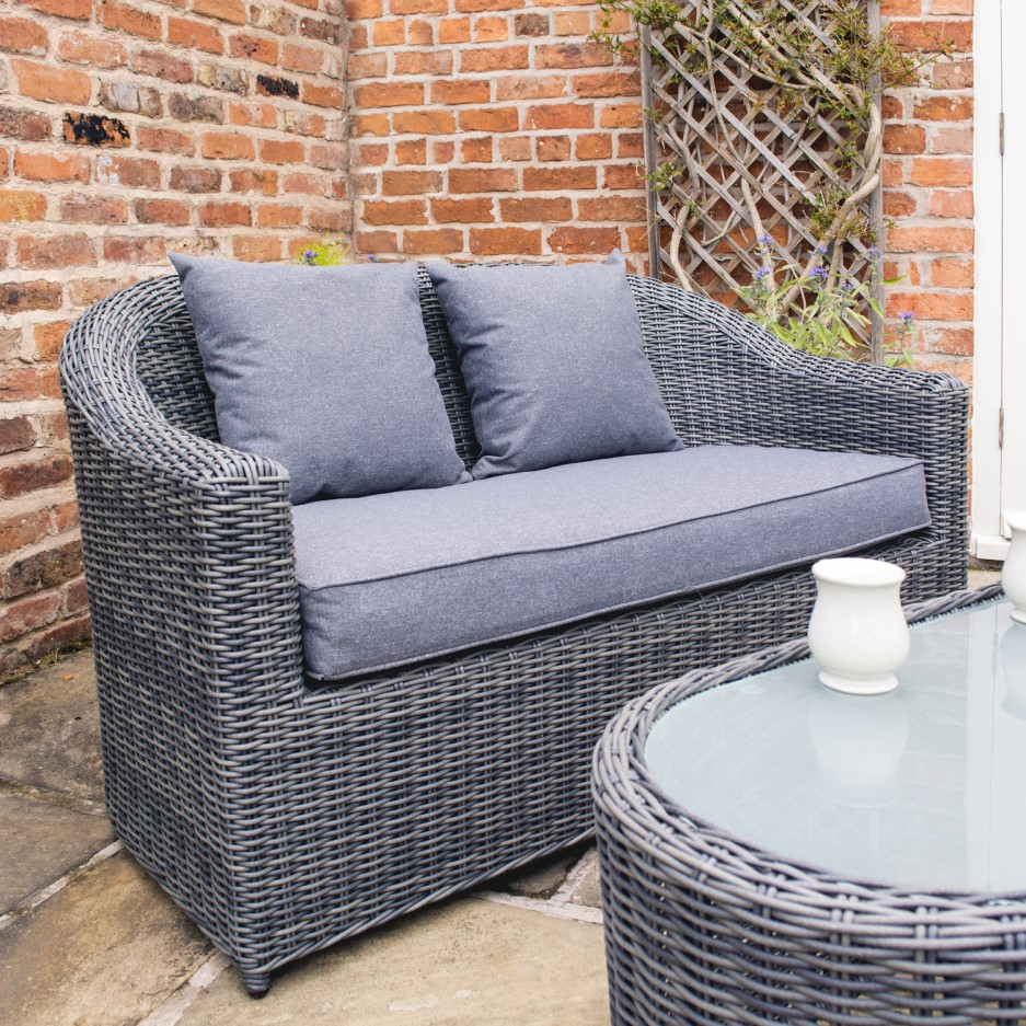 Rowlinson Grey Rattan Garden Sofa Set Bunbury Range