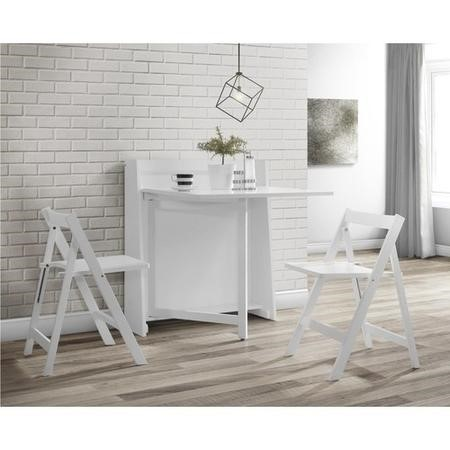 Julian Bowen Helsinki White Console Table and Dining Set - Multifunctional