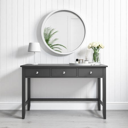 Harper Grey Solid Wood Console Table