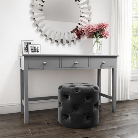 Harper Grey Solid Wood Dressing Table