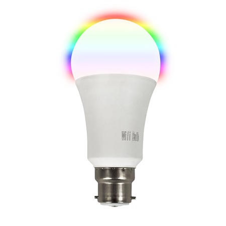 electriQ Smart Lighting Colour Wifi Bulb with B22 bayonet ending - Alexa & Google Home compatible - 5 Pack