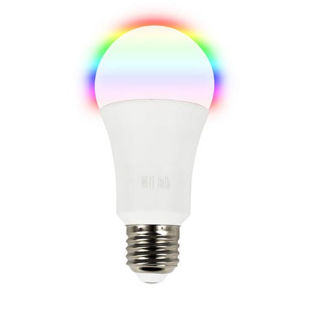 electriQ Smart Lighting Colour Wifi Bulb with E27 screw ending - Alexa & Google Home compatible - 5 Pack