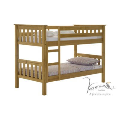 Verona Design Barcelona Solid Pine Small Single Bunk Bed  75x190cm