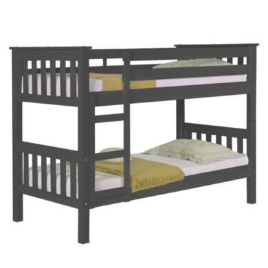Verona Design Barcelona Graphite Single Bunk Bed  90x190cm