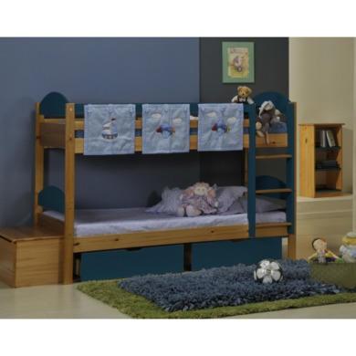 Verona Design Maximus Solid Pine Single Bunk Bed in Blue  90x190cm