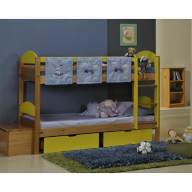 Verona Design Maximus Solid Pine Single Bunk Bed in Lime  90x190cm