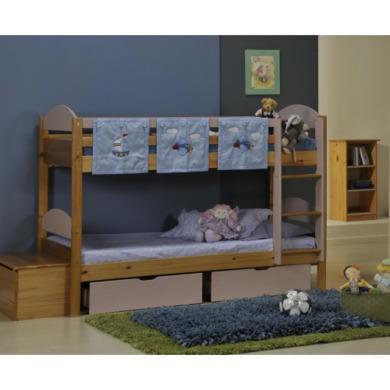 Verona Design Maximus Solid Pine Single Bunk Bed in Light Pink  90x190cm
