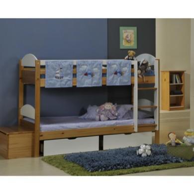 Verona Design Maximus Solid Pine Single Bunk Bed in White  90x190cm