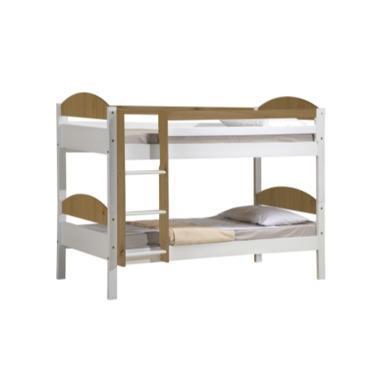 Verona Design Maximus White and Pine Single Bunk Bed  90x190cm