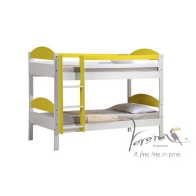 Verona Design Maximus White Single Bunk Bed in Lime  90x190cm