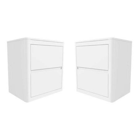 Lexi white high gloss pair of bedside tables furniture123 for 12 wide bedside table