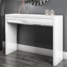 Lexi White High Gloss Console Table ddf77635c