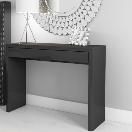 Lexi High Gloss Anthracite Grey Console Table